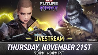 REACTING TO THE MARVEL FUTURE FIGHT V560 UPDATE LIVESTREAM