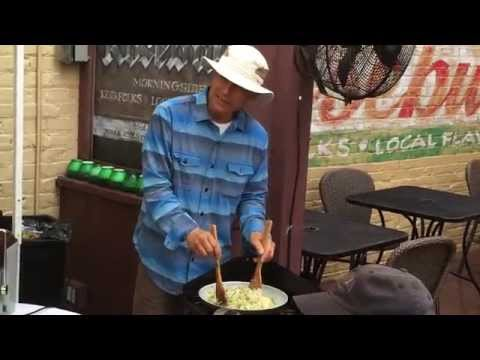 Mark Lui chef demo at Morningside Farmers Market 9/26/2015