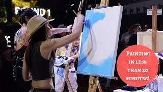 Making a Painting in 20 Minutes! Art Battle Los Angeles