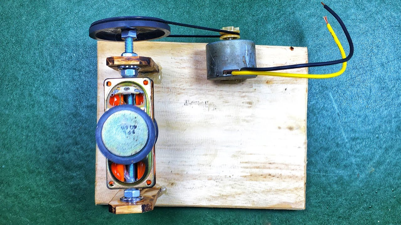 Experiment Science Project | Free Energy Self Running DC Motor With Speaker Magnet