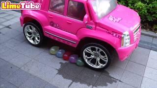 [풍선 핑거송]핑크차로 칼라풍선 터트리기 창의놀이 | 창의미술 LimeTube & Toy 라임튜브