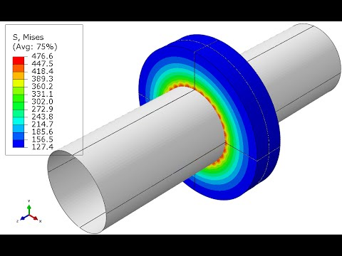 Abaqus/CAE - Step by Step How to do Contact Interference Fit in Abaqus Standard