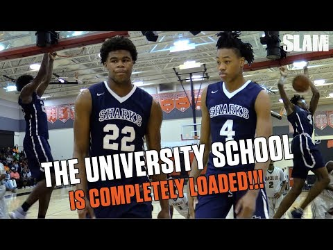 Full D1 Starting Lineup!! Vernon Carey & the University School Are LOADED!!!