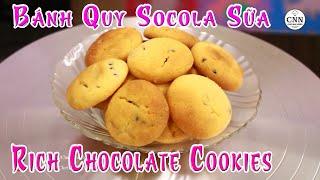 Bánh Quy Socola Sữa | Rich Chocolate Cookies - Chef Nhà Nghèo | CNN Channel