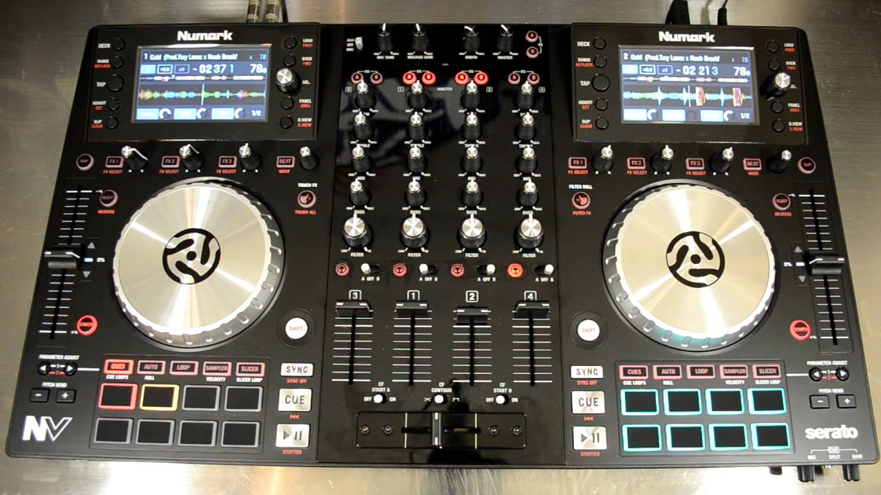 numark nv dual screen serato dj controller demo review video youtube. Black Bedroom Furniture Sets. Home Design Ideas