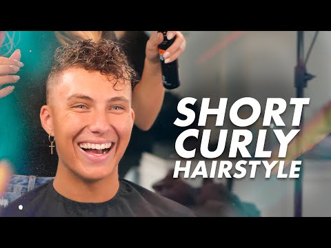 Men's Curly Haircut and Hairstyle | Best Hair Inspiration thumbnail