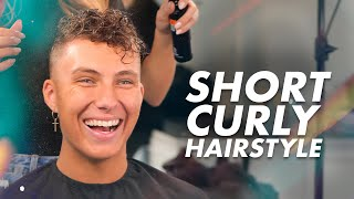 Men's Curly Haircut and Hairstyle | Best Hair Inspiration