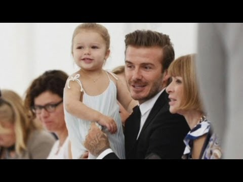 Harper Beckham at New York Fashion Week: Supports mummy and keeps dad David busy