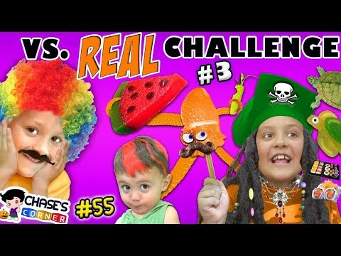 Chase's Corner: GUMMY vs REAL PART 3 Halloween Costume Edition (#55) | DOH MUCH FUN