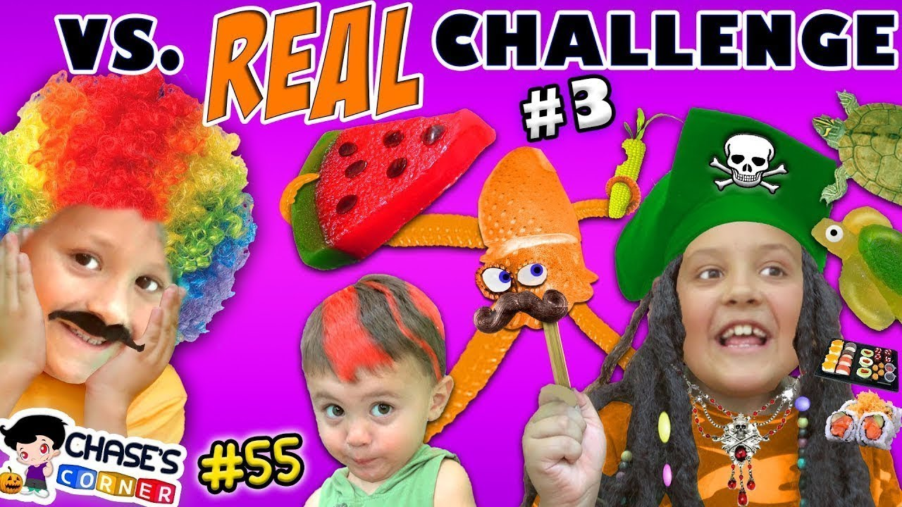 Download Chase's Corner: GUMMY vs REAL PART 3 Halloween Costume Edition (#55) | DOH MUCH FUN