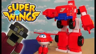 Super Wings Jett's Super ROBOT Suit BEACH ADVENTURE Transforming Vehicle Playset Toys Full Episode