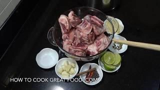 How to make Bone Broth - Bone Soup - Lamb Stock - Flu Buster Broth - Homemade Bone Broth