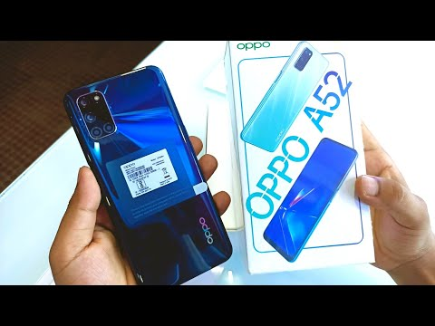 Oppp A52 Twilight Black Unboxing , First Look & Review!! Oppo A52 Price, Specifications etc.