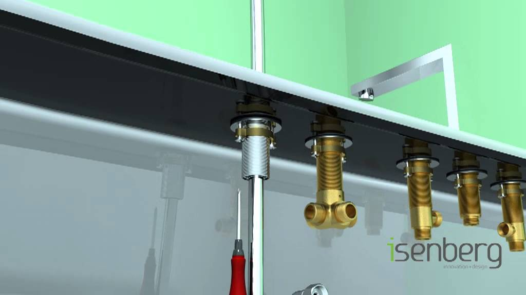 Installing Isenbergu0027s Deck Mounted Roman Tub Filler Faucet With Hand Shower  160.2420   YouTube