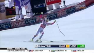 Lindsey Vonn Wins - Downhill - Meribel
