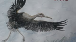 how to paint flying bird in watercolor