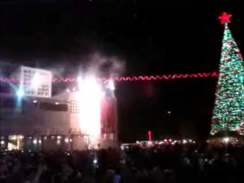Christmas tree lighting in Bethlehem  2012 ,, Palestine