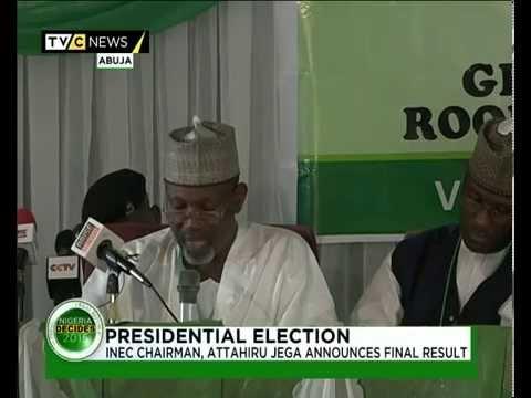 INEC Declares Muhammadu Buhari President elect