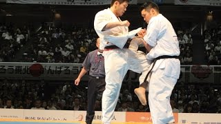 The 46th ALL JAPAN KARATE TOURNAMENT Men Semifinal Yuji Shimamoto v...