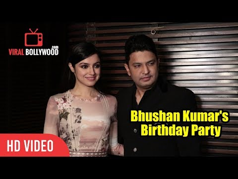 Bhushan Kumar With Wife Divya Khosla Kumar At His Birthday Party | T-Series Party