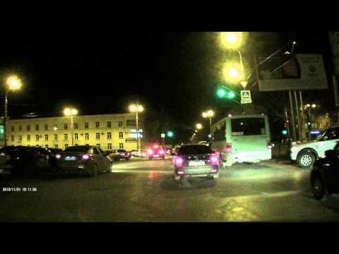 Видеорегистратор Sho-me HD34-LCD - ночная съёмка