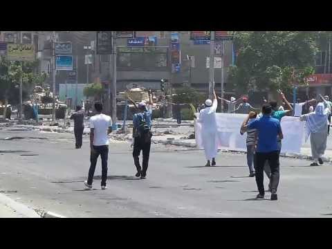 Crimes of the military coup in Egypt 001 |  Shooting a peaceful protester
