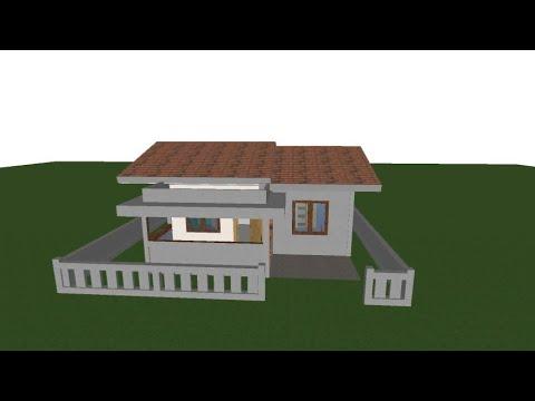 desain rumah minimalis ukuran 7x8 2 kamar tidur 1 lantai