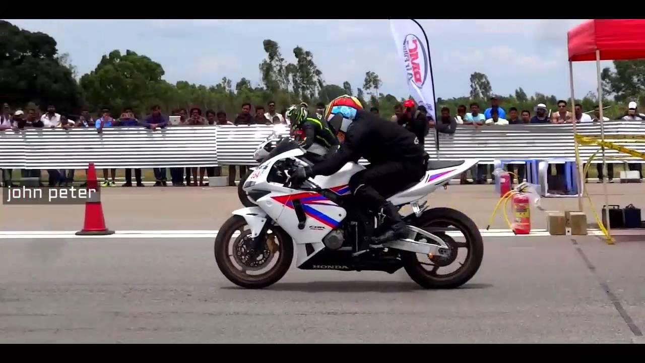 Honda CBR 600rr vs Yamaha R6 Drag Races Bengaluru Drag Fest 2016