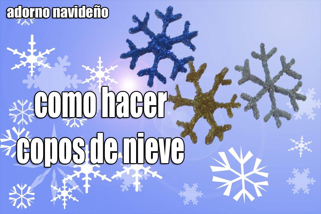 Navidad copo de nieve adornos navide os youtube - Nieve para arbol de navidad ...
