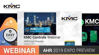 Webinar: KMC AHR 2019 Preview | 01.08.19