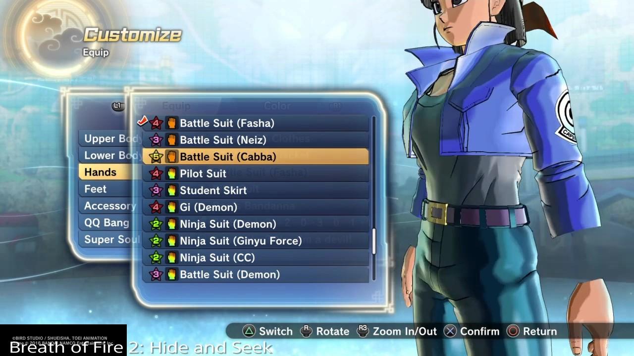 Cabba Clothing Glitch | Dragon Ball Xenoverse 2 - YouTube