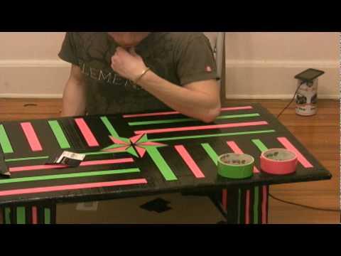 Cardboard Duct Tape Coffee Table Youtube