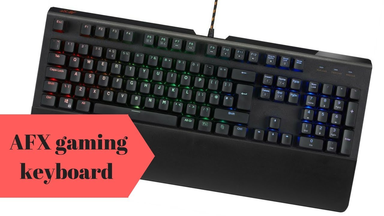 4b008c76471 AFX firefight gaming keyboard review - YouTube