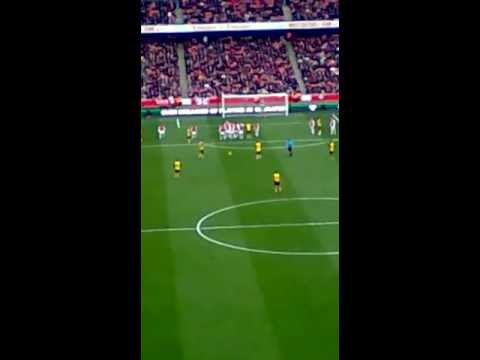 Morten Gamst Pedersen freekick vs Arsenal