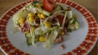 Очень вусный салат с тунцом.