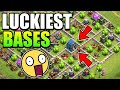 OMG 😲 LUCKIEST BASES IN CLASH OF CLANS HISTORY | Clash Of Clans |