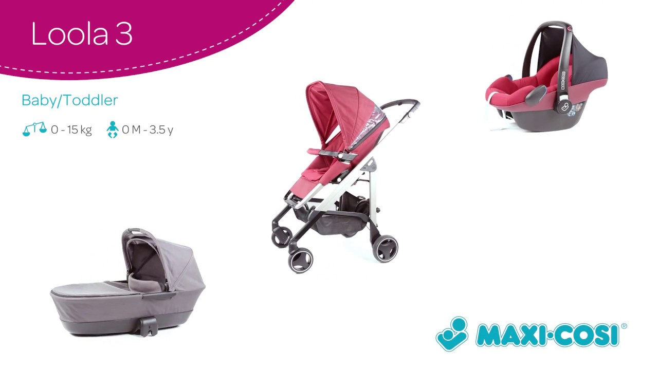 maxi cosi how to use loola 3 stroller youtube. Black Bedroom Furniture Sets. Home Design Ideas