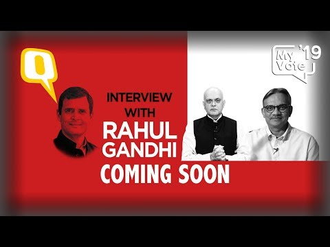 Congress President Rahul Gandhi's Interview With The Quint: Coming Soon