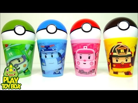 Pokemon Go Character Capsule Colors Kinder Joy Surprise Eggs Toys with Roboca Poli Cup Ball