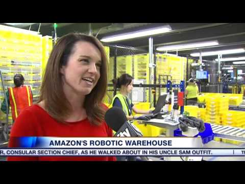 Video: Inside Amazon's robotic warehouse
