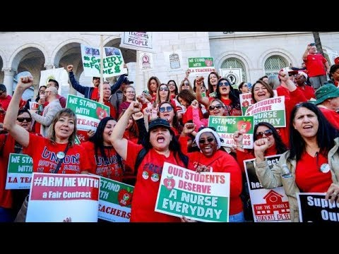 Los Angeles teachers strike is officially on