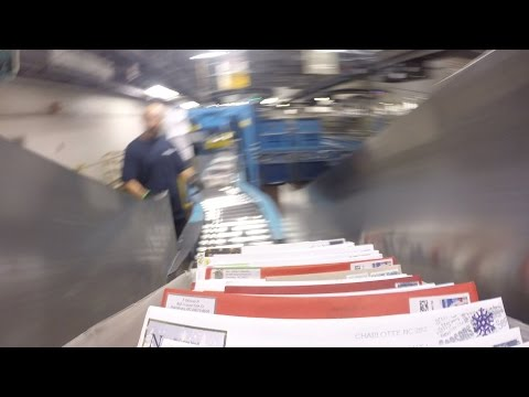 Travel through the postal system on the busiest day of the year