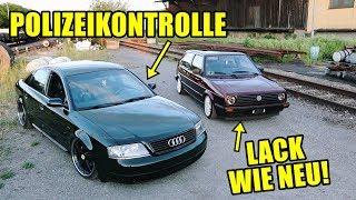 Neuer Glanz am Golf 2 & Polizeikontrolle im Audi A6!