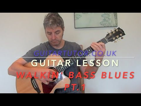 Blues With Walking Bass Pt 1: Guitar LESSON