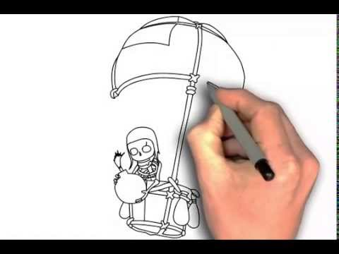 Clash of Clans Drawings How to Draw Balloon Clash of