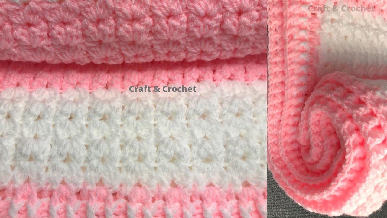 Easy crochet baby blanket/crochet blanket pattern.