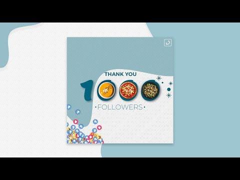 Thank you followers Banner Design in Photoshop CC or CS6 | Designhob
