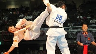 The 46th ALL JAPAN KARATE TOURNAMENT Men 4th round Yuki Maeda vs Ka...