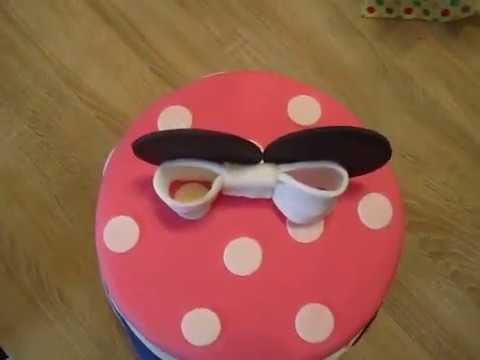 mini mouse torte micky maus fondant torte mini maus youtube. Black Bedroom Furniture Sets. Home Design Ideas