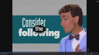 Bill Nye on Gender circa 1990s